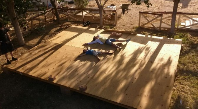 Building A Temporary Tent Home