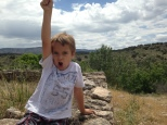 Montezuma's Well, Superhero pose. It's basically what I get whenever I point the camera at him.