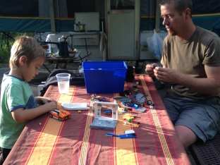 Lego's while camping