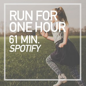 one hour run playlst