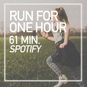 one hour run playlst