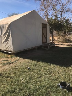The tent house